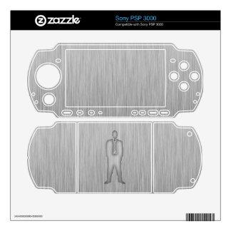 Traje de negocios cepillado de la Metal-mirada Calcomanía Para El PSP 3000