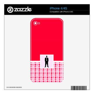 Traje de negocios lindo iPhone 4 skin