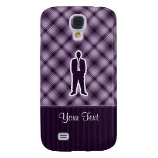 Traje de negocios púrpura