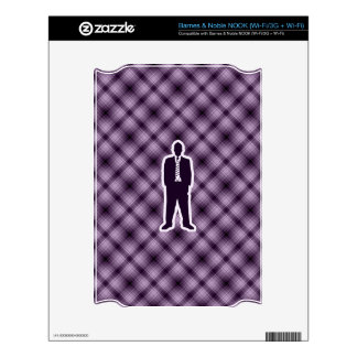 Traje de negocios púrpura skins para elNOOK