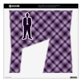Traje de negocios púrpura calcomanías para el xbox 360 s