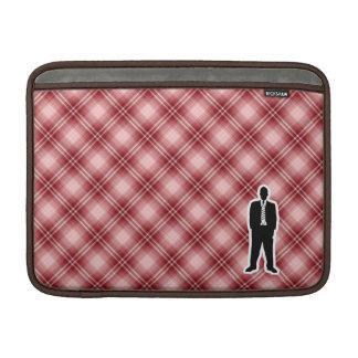 Traje de negocios rojo de la tela escocesa fundas macbook air