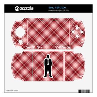 Traje de negocios rojo de la tela escocesa calcomanía para el PSP 3000