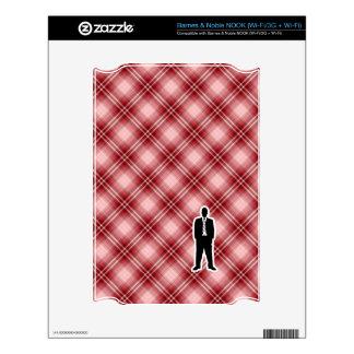 Traje de negocios rojo de la tela escocesa NOOK calcomanías