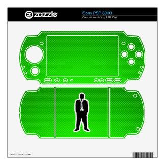 Traje de negocios verde PSP 3000 skins
