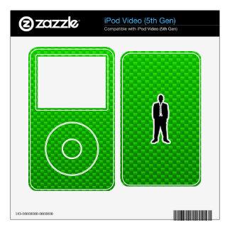 Traje de negocios verde skins para iPod video