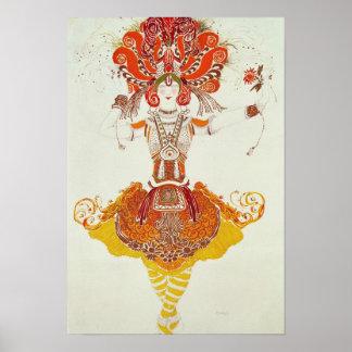 """Traje del ballet para """"el Firebird"""", por Stravinsk Impresiones"""