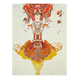 """Traje del ballet para """"el Firebird"""", por Stravinsk Postal"""
