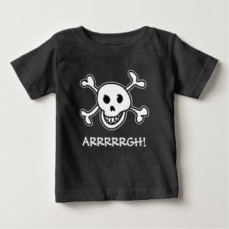 Traje del cráneo del pirata del fiesta de playera de bebé