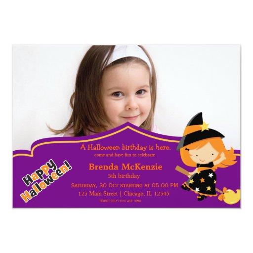 Traje del cumpleaños de Halloween Invitaciones Personales