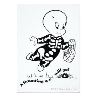 """Traje del esqueleto de Casper Invitación 5"""" X 7"""""""