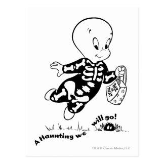 Traje del esqueleto de Casper Tarjeta Postal