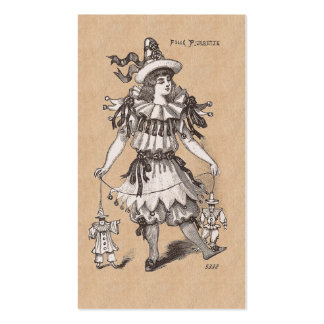 Traje del fiesta de las modas del vintage del chic tarjetas de negocios