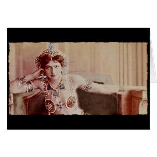 Traje del Harem de Mata Hari Tarjeta De Felicitación