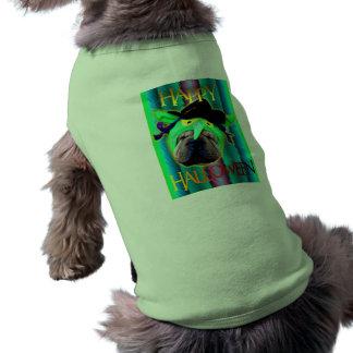 Traje del monstruo de ojos verdes ropa de perros