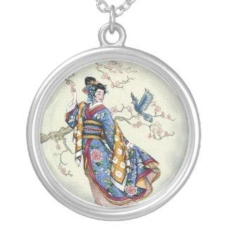 Traje del pájaro del traje del geisha collares
