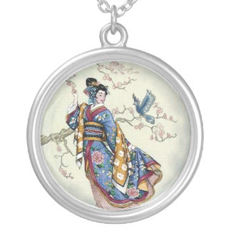 Traje del pájaro del traje del geisha colgante redondo