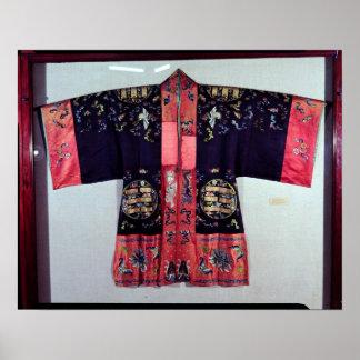 Traje del Taoist con la ji Yin y Yang del Tai Póster