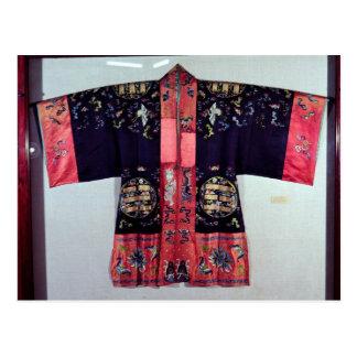 Traje del Taoist con la ji Yin y Yang del Tai Tarjetas Postales