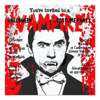 Traje del vampiro de la invitación del fiesta de