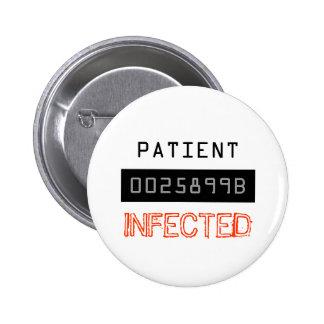 Traje del zombi - botón de Halloween Pin
