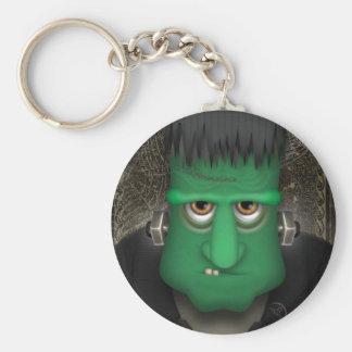 Traje divertido de Frankenstein Halloween Llavero Redondo Tipo Pin
