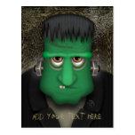 Traje divertido de Frankenstein Halloween Tarjeta Postal