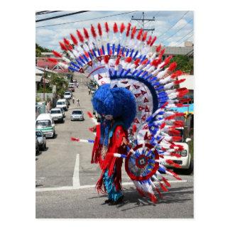 Traje indio rojo, Mas tradicional, carnaval Postales