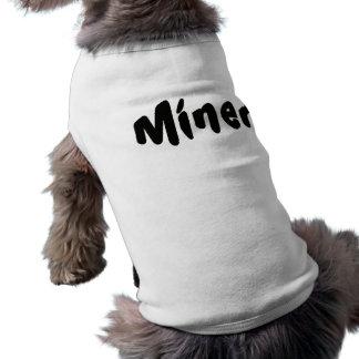 Traje inmediato del perro del minero playera sin mangas para perro