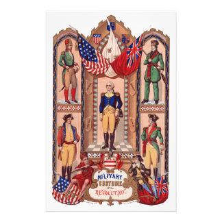 Traje militar de la guerra revolucionaria 1855 papelería de diseño