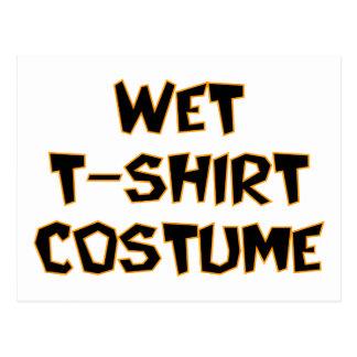 Traje mojado de la camiseta postales
