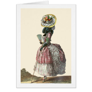 Traje negro del siglo XVIII del caniche de Marie A Tarjeta