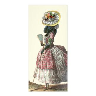 Traje negro del siglo XVIII del caniche de Marie A Tarjeta Publicitaria