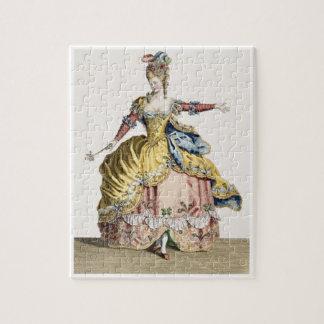 Traje para la reina de los silfos en el ballet rompecabeza con fotos
