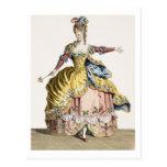 Traje para la reina de los silfos en el ballet postal