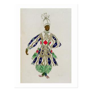 "Traje para un ""negro"", de Aladdin, 1916 (color Tarjetas Postales"