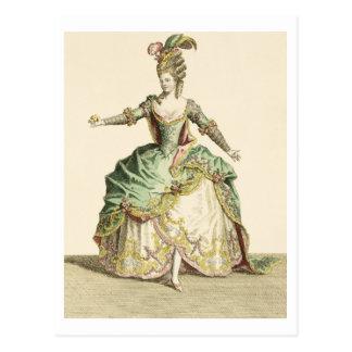 Traje para Venus en varias óperas, grabado por t Tarjeta Postal