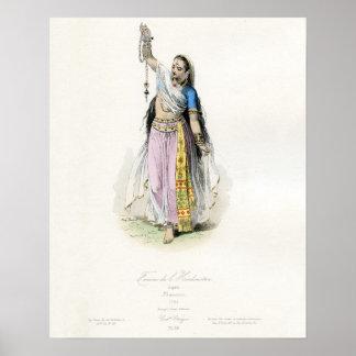 Traje tradicional de la mujer india póster