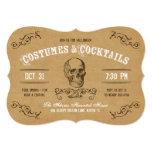 Traje y cóctel de Halloween del cráneo del vintage Invitación 12,7 X 17,8 Cm