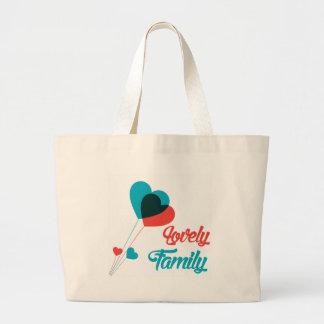 Trajes al aire libre de la familia preciosa bolsa tela grande