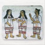 Trajes aztecas femeninos alfombrilla de raton