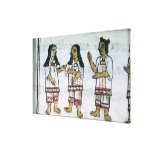 Trajes aztecas femeninos impresiones de lienzo