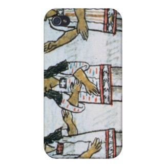 Trajes aztecas femeninos iPhone 4 funda