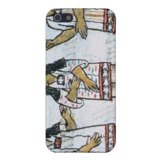 Trajes aztecas femeninos iPhone 5 carcasa
