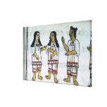 Trajes aztecas femeninos lienzo envuelto para galerías