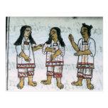 Trajes aztecas femeninos postal