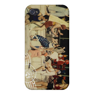 Trajes de baño del vintage iPhone 4/4S fundas