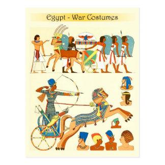 Trajes de la guerra y sombreros de Egipto Postales