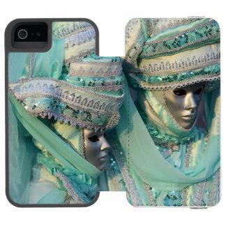 Trajes de los pares del vestido de lujo funda billetera para iPhone 5 watson