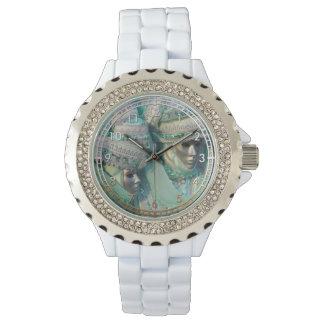 Trajes de los pares del vestido de lujo relojes de pulsera